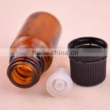 10ml mould brown glass essential oil bottle with reducer and cap