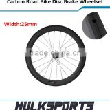 2016 Disc brake hub carbon wheelset fit for road bicycle tubular 25mm width 60mm depth cycling wheels