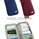 Promotional cheap fabric travel wallet in korean style
