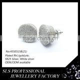 Popular designs Men's earring ,screw back earring,sterling silver jewellery finding earring for men