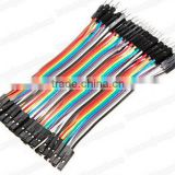 2.54mm solderless breadboard wire 40pcs male female jumper wire ribbon cable