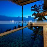 burma teak swimming pool outdoor decking