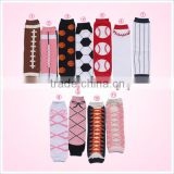 Kids socks wholesale boutique soft cotton football baby leg warmer