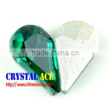 Crystal fancy droplet glass stone