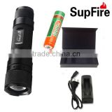 2015 3w rechargeable camping outdoor LED focusing flashlight