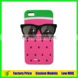 Watermelon with glasses Silicone 3d phone case mobile cover for Iphone SE cell phone case back cover