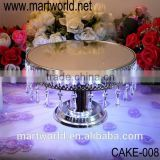 Hot sale Hanging Crystals Cake Stand with LED light for wedding/ home/party decoration(CAKE-008)