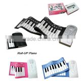 Waterproof Fashion & Cute 49 Keys Roll Up Silicone Baby Piano