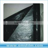 Black/silver plastic mulch layer for agriculture UV use