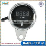 12V Motorcycle Digital 2 in 1 Tachometer RPM Shift Meter Fuel Gauge Meter with Digital LED Indicator