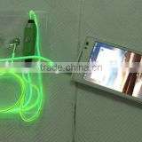 Factory price top selling items glow in the dark el wire earphone glowing headphones