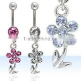 Navel body jewelry, navel rings, belly rings, belly body jewelry, body piercing jewelry, belly button ring