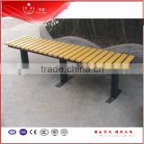 China wholesale garden chair/street furniture /wooden bench backless