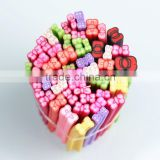 Fruit Nail Art Fimo 12 Styles 3D Design Decoration Tips UV Acrylic clay Manicure Rhinestones Bow Fruit Fimo ZX:RT681