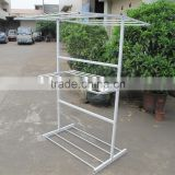 Steel clothes hanging rack/Standing outdoor clothes drying rack/Rustproof stainless steel clothes hanger