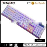 Amazing Cyan Switch Mechanical LED backlight gaming wired keyboard for LOL DOTA2 OVERWATCH                                                                                                         Supplier's Choice