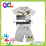 Hot selling high level new design delicated appearance boys clothes sets american flag design