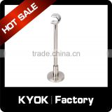 KYOK Silent Gliss Curtain Track Spares Gliders Brackets Hooks,Curtain Rod With Stainless Steel Iron Chrome Roman Blind Rail Part
