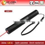 adjustable 650nm 200mw red laser pointer burning matches and cigarettes with extensible tube