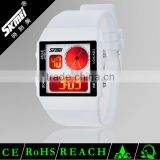 dual time plastic analog digital lcd wrist watch