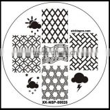 2015 Hot the factory price nail art stamping plates set, gel nail kit set, picnic plate set