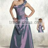One-shoulder Simple Semi Mother of The Bride Dress XYY-wy021-10