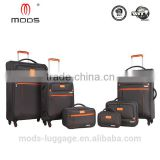 4 Wheel Spinner Softside Set 6 Polyester material trolley bag Back Pack