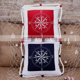 Handmade Compass Pillow embroidery designs Cushion Cover