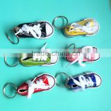Factory direct sale mini canvas sneaker shoes keychain                                                                         Quality Choice