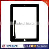 White /Black Front Glass Touch Screen Glass Digitizer for iPad 3, for iPad 3 Home Button Digitizer Assembly