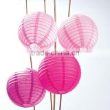 HOT SALE Multicolor pink Chinese Paper Lanterns wholesale wedding decorative round blue paper lantern