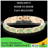 ATHENAA 2016 New Products Fashion Jewelry Gold Bracelet Bio Magnetic Bracelet with Opal Chain Bracelet