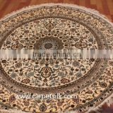 factory whosale beige color handmade silk carpet/rug in persian design turkish design belgium design