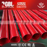 latest building materials round Section Shape hollow red fire sprinkler epoxy lined carbon steel pipe