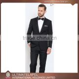 High quality custom made black tuxedo men suits slim fit wedding                                                                                                         Supplier's Choice