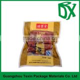 Low price free samples customized printed heat seal food vacuum plastic bag pouch for hot dog food packing
