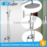 150mm Wall Mounted Single Holder Dual Control with Slide Bar Outdoor Waterfall Shower Faucet