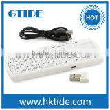 Mini wireless keyboard and mouse for ipad IPKW250FUSK 2.4G RF with touchpad and flashlight keyboard for hisense smart tv