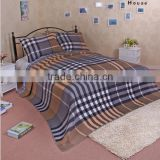 New 2015 Summer cool it hotel pillow case/grid stripe cotton yarn - dyed fabric quilting bed line