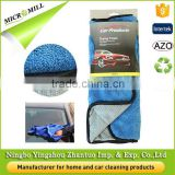 Microfiber double designs auto care glass window polishing cloth