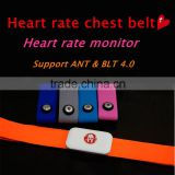 Adjustable chest strap bluetooth heart rate monitor chest belt for group training Gym body fitness tracker
