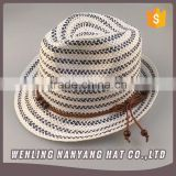 Women's Roll Birm Hats Foldable String Bow Summer Beach Sun Straw Hats
