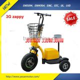 zappy brushless electric motor factory price 2015 China three wheel handicapped mobility scooter