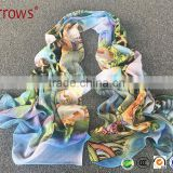 Yiwu Arrows Cheap Good Chiffon Polyster Beach Summer Shawls and Wraps Scarvel for Sexy Women Young Girls Dresses