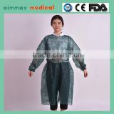 Medical Nonwoven Sterile Disposable Surgical Gown for Patient with certificate supplier with CERTIFICATE supplier
