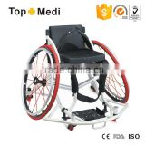 Topmedi Good Quality Sports Basketball Wheelchair for Disabled People/Silla de ruedas deportiva para baloncesto