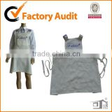 Linen Fabric Material Decorative Pockets with Criss-cross Ties Around Back Design Cooking Aprons