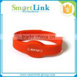 cheap factory custom printed waterproof Silicone RFID Wristband/ Bracelet/ Watch Tag with EM4200 Chip