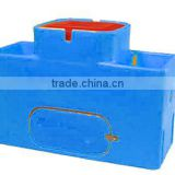 Plastic cow/cattle/horse/sheep water trough/tank with double holes