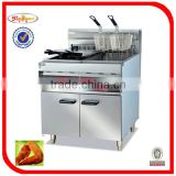 automatic electric fryer with cabinet with timer 4-basket 2-tank Freestanding type DF-26-2A 0086-13632272289